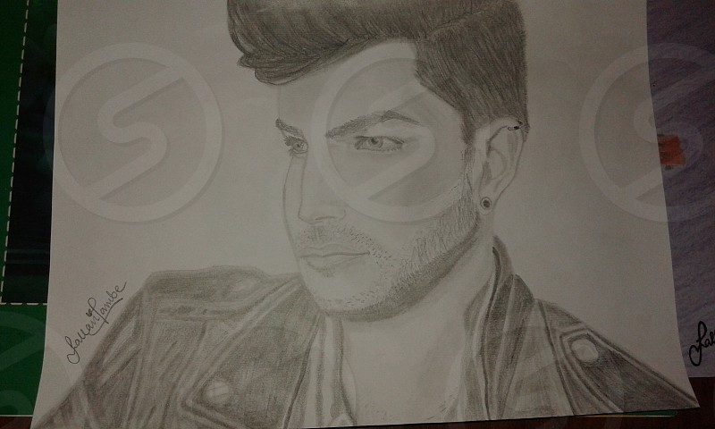 Adam Lambert Drawing by Me photo