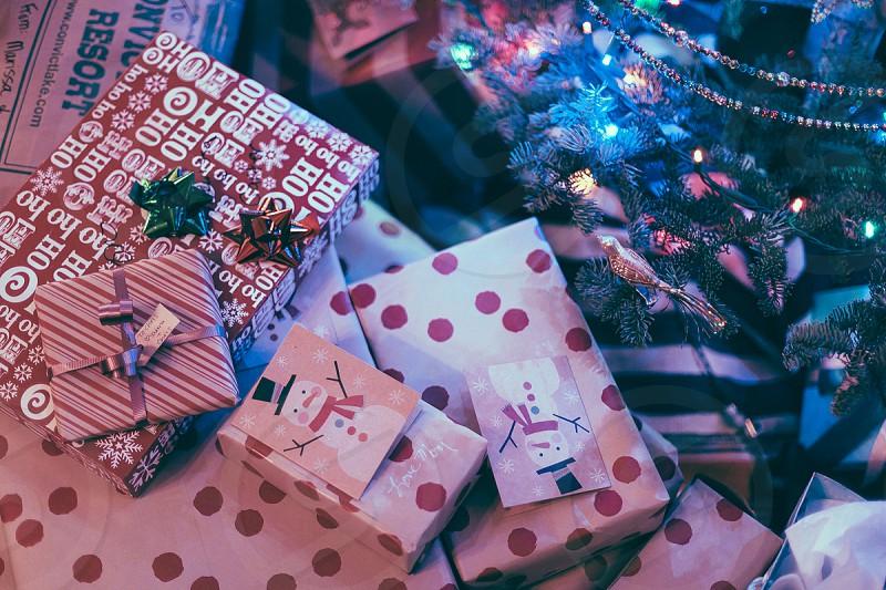 Presents under the tree photo