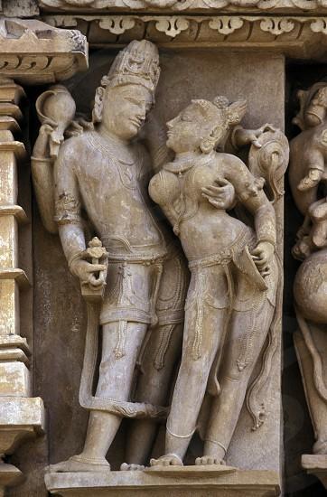 The Temple of Khajuraho in the province of Uttar Pradesh in India. photo