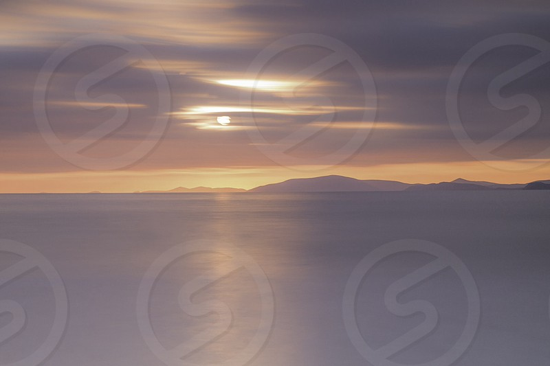 A beautiful end to the day In Rossbeigh Beach Co.Kerry Ireland photo