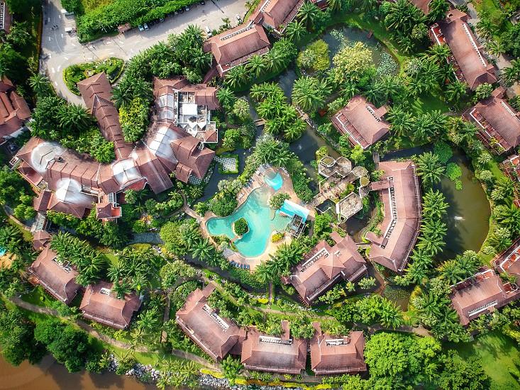 Bird eye view from Karnjanabur Thailand photo