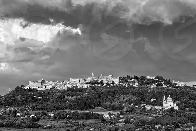 Storm Brewing over Montepulciano photo