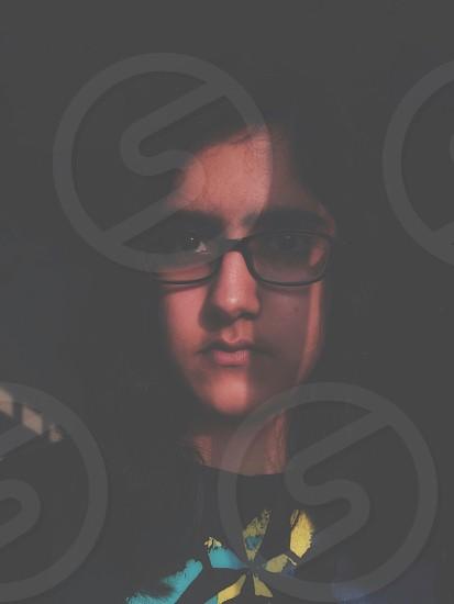 Portrait angry faded dark rebel daylight self photo