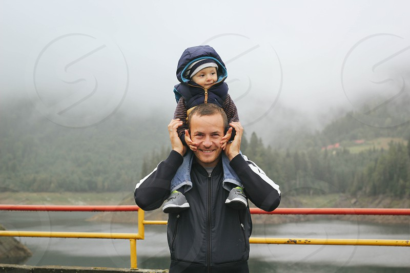 Dad and Son enjoying their time photo