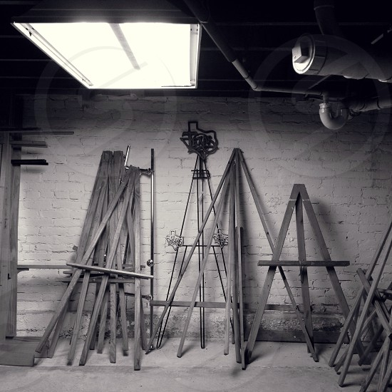piled wood gray scale photography photo