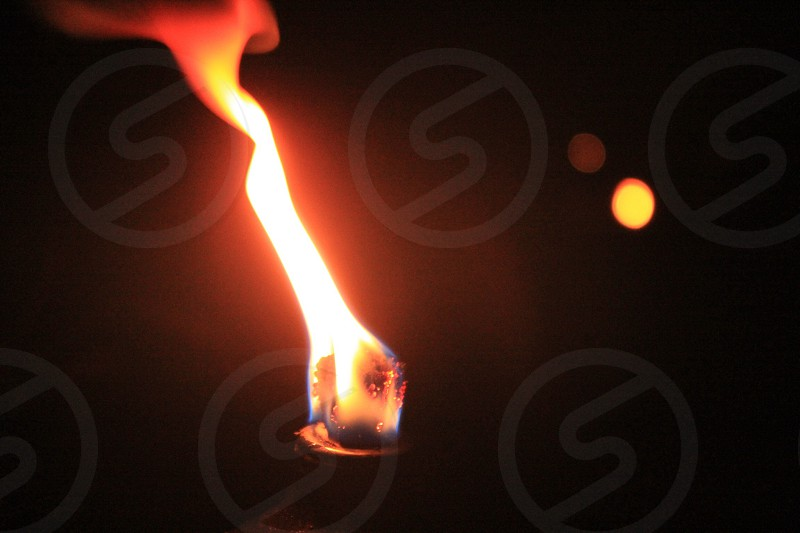 Fire torch photo