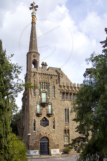 Torre Bellesguard - palace built by Gaudi in Barcelona photo