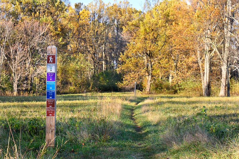 The Appalachian Trail passing through Sky Meadows State Park in Fauquier County Virginia. photo