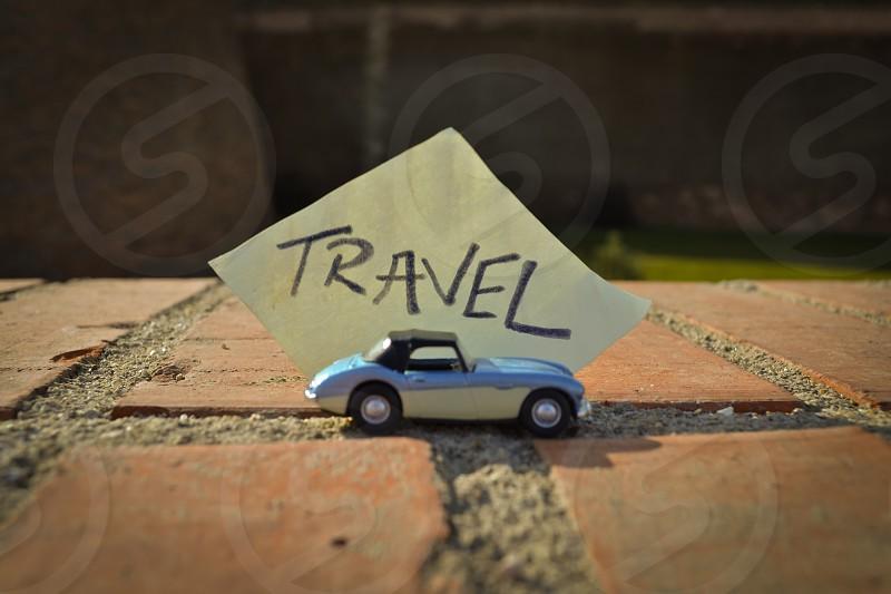 Travel car message photo