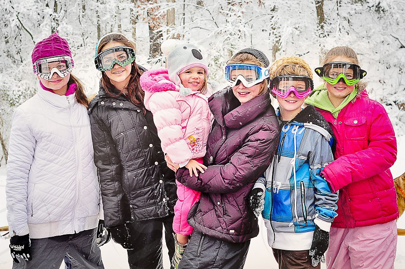 FAMILY OUTING | All cousins ready to do some sledding and snowboarding! photo