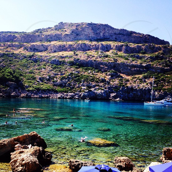 Anthony Quinn bay in Rhodes Greece photo