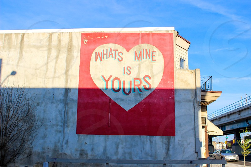 Heart street art love  photo