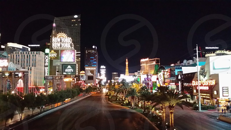 Vegas by night photo