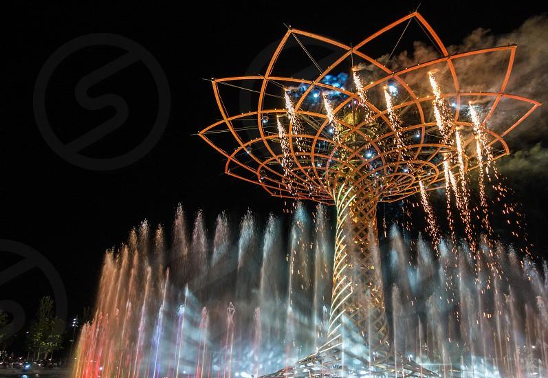 Tree of Life at Expo in Milan Italy photo