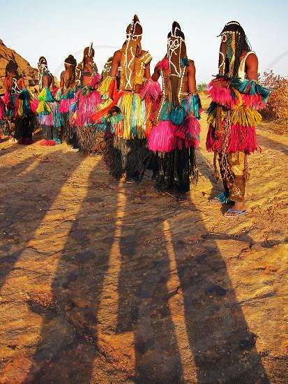 Dogan vallei Afrikaritueel. dans zon schaduw. photo
