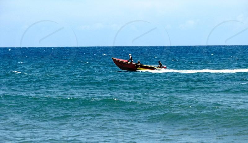 Speed Boat on ocean photo