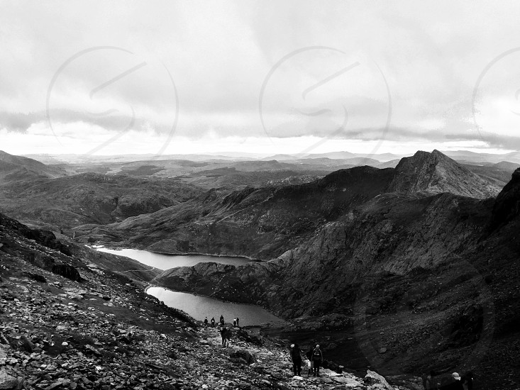 Looking down from mount snowdon photo
