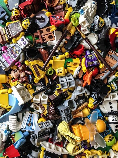 multi colored lego figures photo