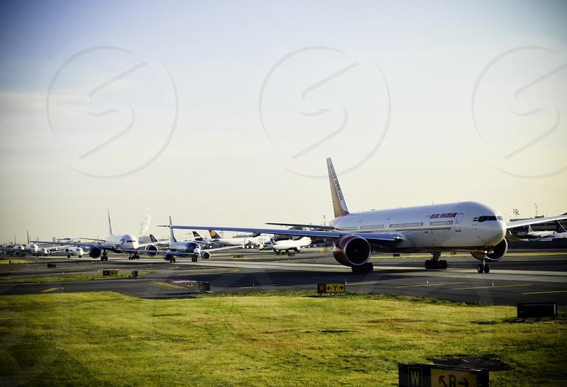 white and brown passenger plane photo