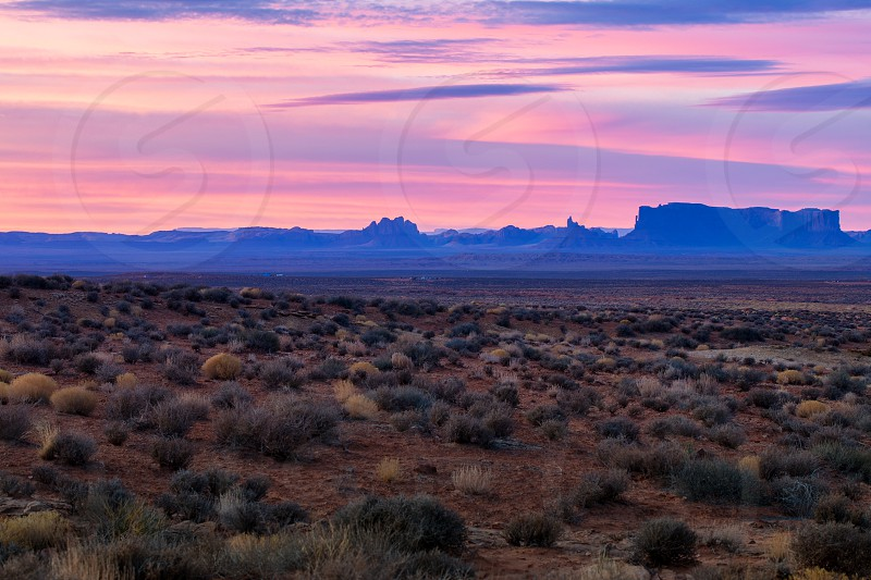 This is the picture of Monument Valley during sunrise Utah photo