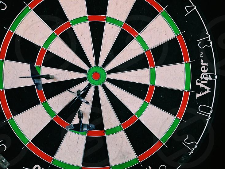 darts dart game red green black and white graphic bar  photo