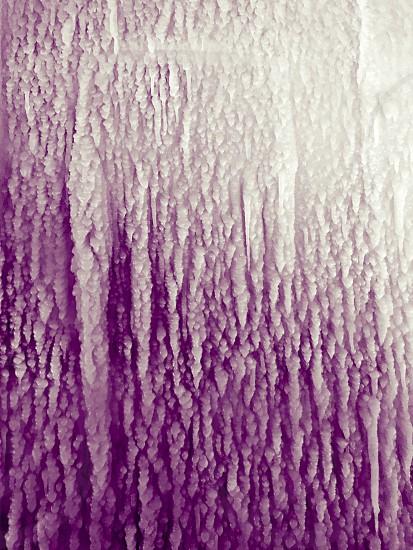 Ice purple violet lavender cold frozen.  photo