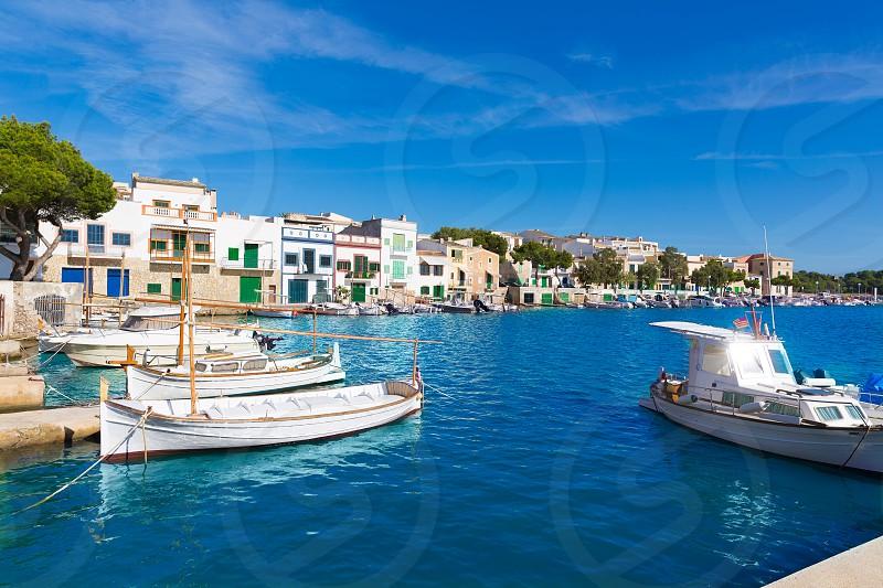 Majorca Porto Colom Felanitx port in mallorca Balearic island of Spain photo