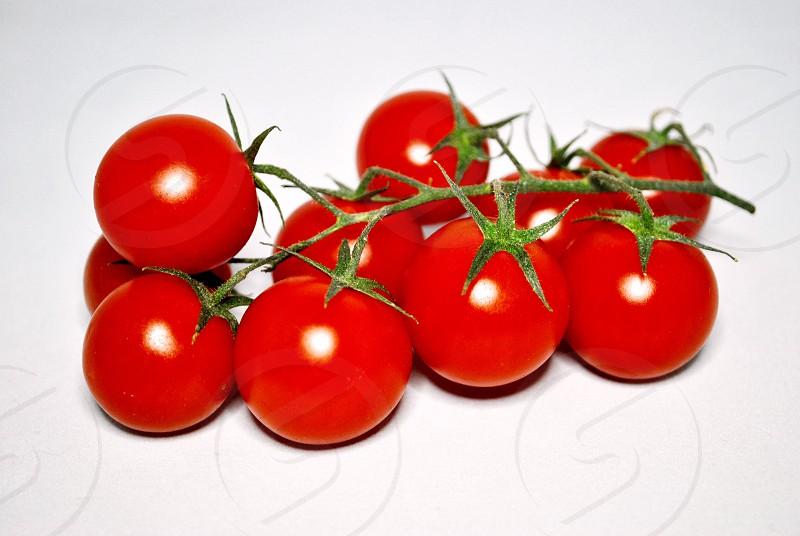 orange cherry tomatoes photo