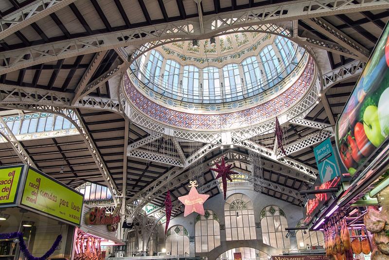 interior of Valencia market  photo