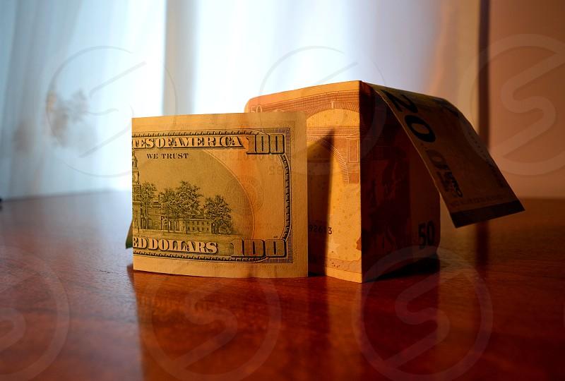 Money - a wall.  photo