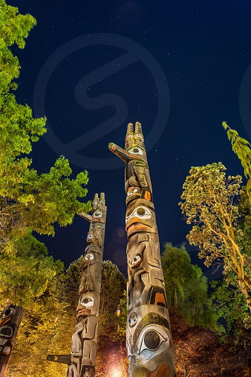 2 wooden totem photo