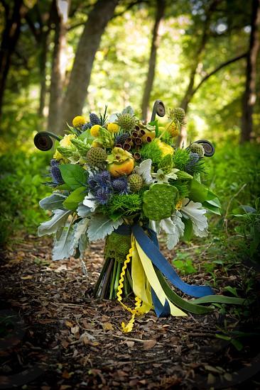 Bridal floral bouquet photo