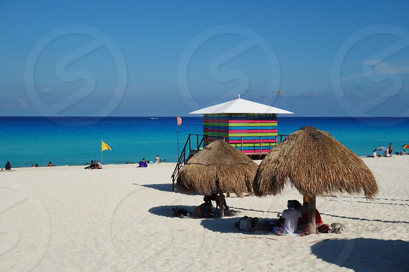 The Playa Delfines beach in Cancun Mexico photo