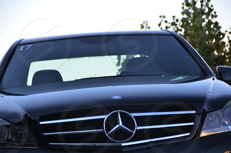 mercedes-benz e class sedan black photo