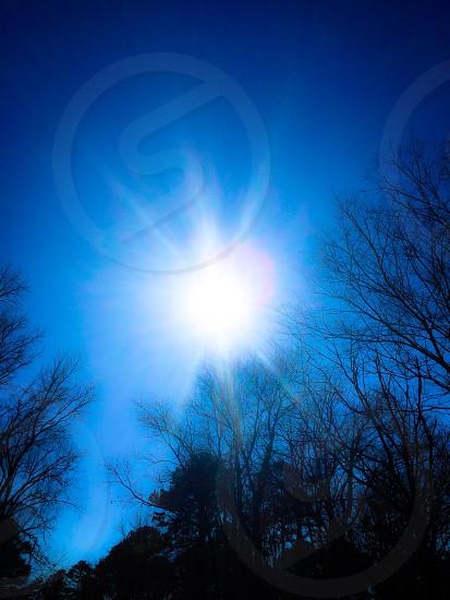 Sunshine blue sky carefree enjoying life outdoors  photo