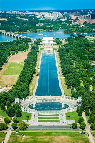 Summer Washington DC Reflecting Pool Lincoln Memorial Capital Monument photo