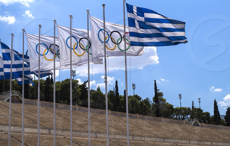 Panathenaic Stadium a stadium for the cultural events and athletics in Athens. photo