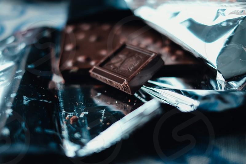 chocolate slices photo