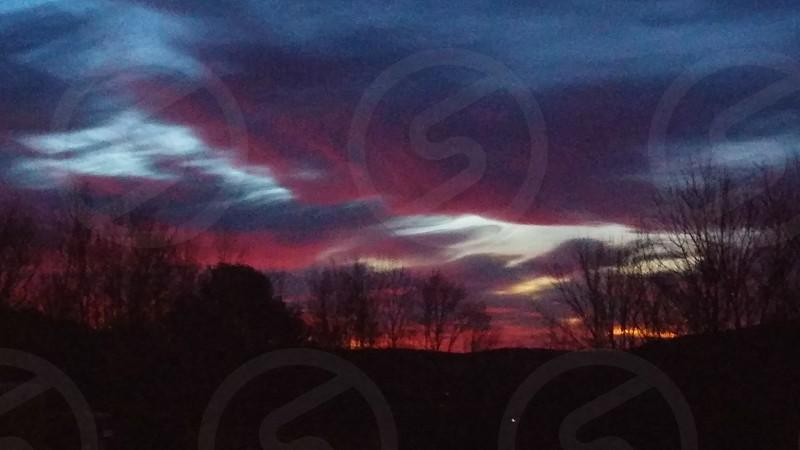 Sunrise as clouds move in photo
