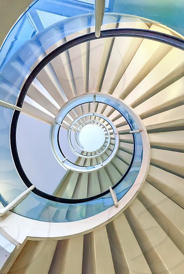 Modern architectural Spiral Staircase  photo