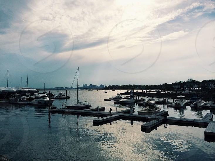 boat dock photo photo