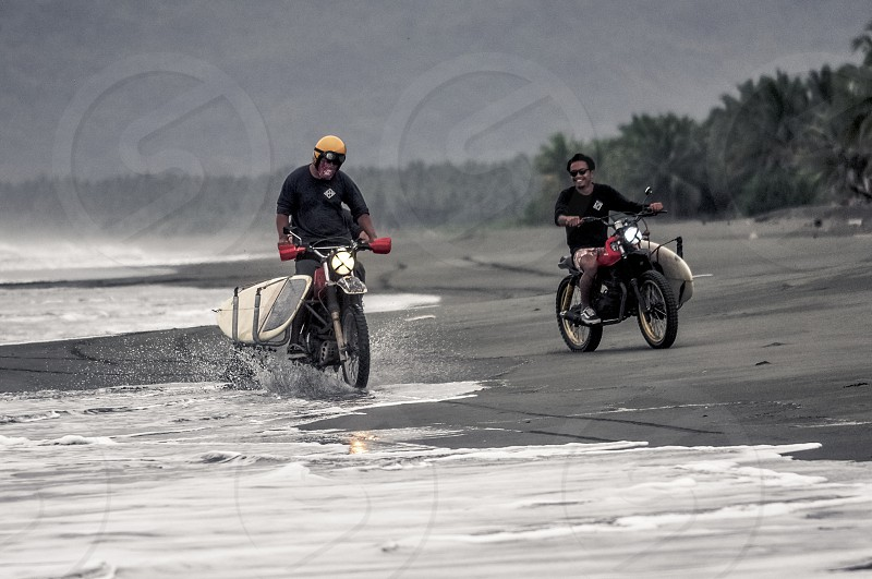 Road trip Philippines surigao beach motorcycle photo