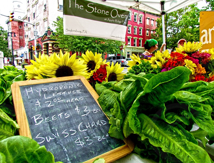 Eating Healthy with organic foods at the farmers' market. photo