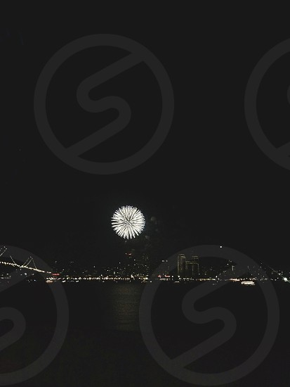 white fireworks photo
