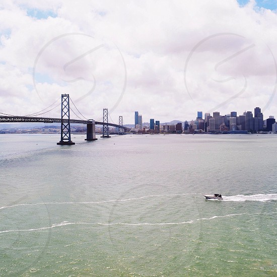 A view of San Francisco from Treasure Island Ca  photo