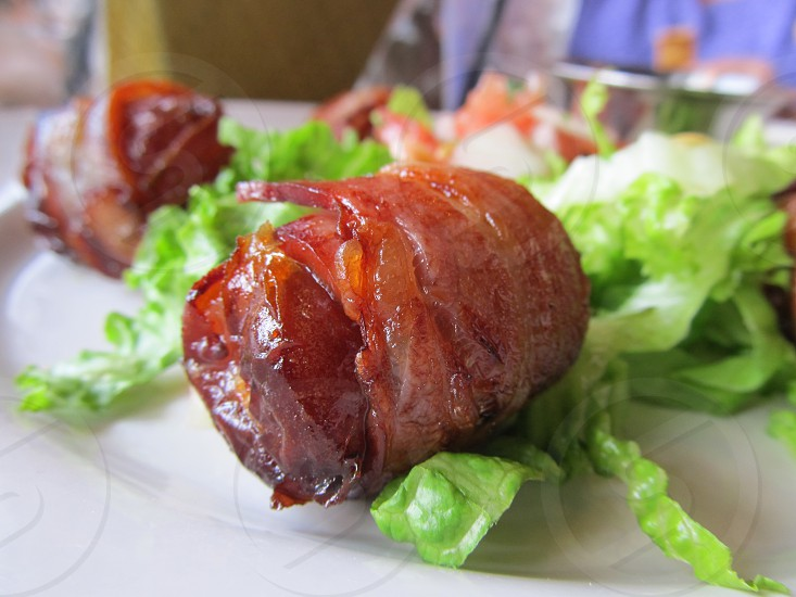 Bacon wrapped date at Bentonville AR restaurant photo