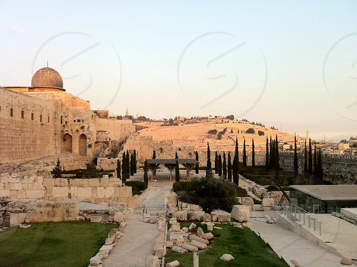Looking from the Temple Mount toward the Mount of Olives photo