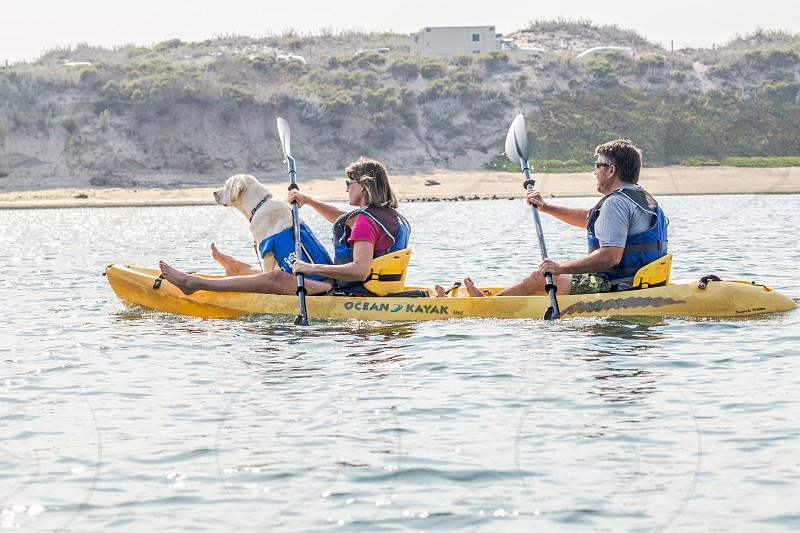 Kayaking with the dog photo