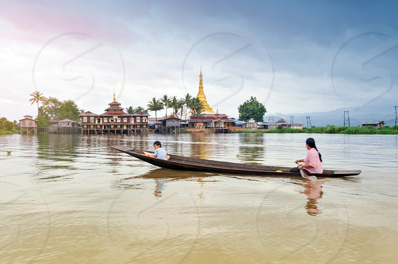 Inle Lake a freshwater lake located in the Nyaungshwe Township of Taunggyi District of Shan State part of Shan Hills in Myanmar (Burma) photo