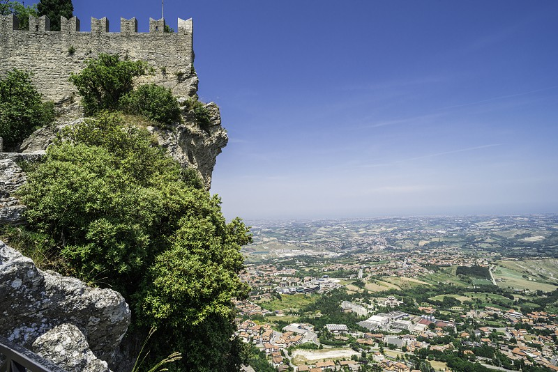High view from San Marino. Summer time photo